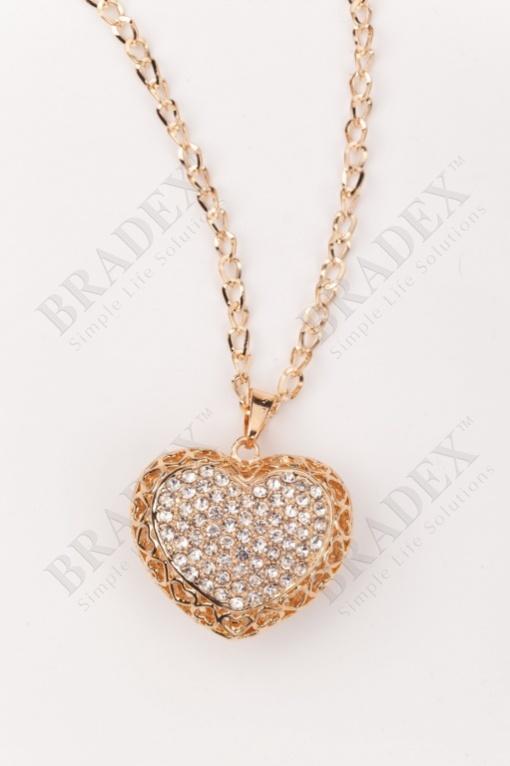 Колье «бриллиантовое сердце» #4 купить оптом