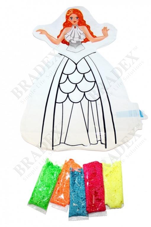 Раскраска надувная «принцесса катя» (inflatable painting baloon princess/diy)