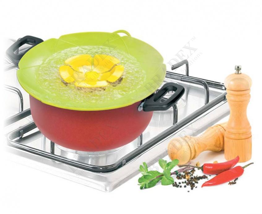 Крышка силиконовая «невыкипайка» (silicone cooking spill stopper lid)