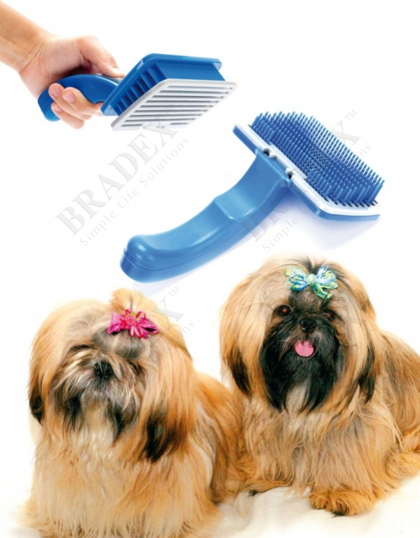 Щетка самоочищающаяся для животных (pet zoom self cleaning grooming brush (middle))