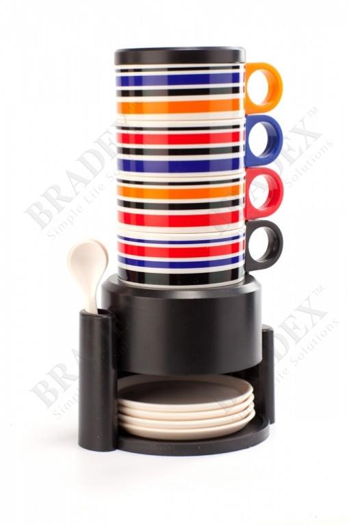 Набор посуды из 12 предметов с подставкой «чаепитие» (rainbow cups set)