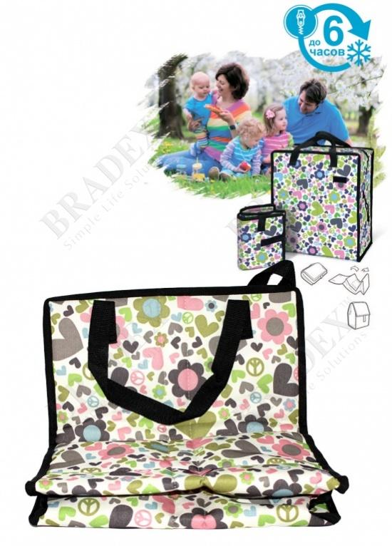 Сумка охлаждающая с гелевым наполнением «фризи изи» мультиколор (cooler bag 32х37х19cm, multicolor)