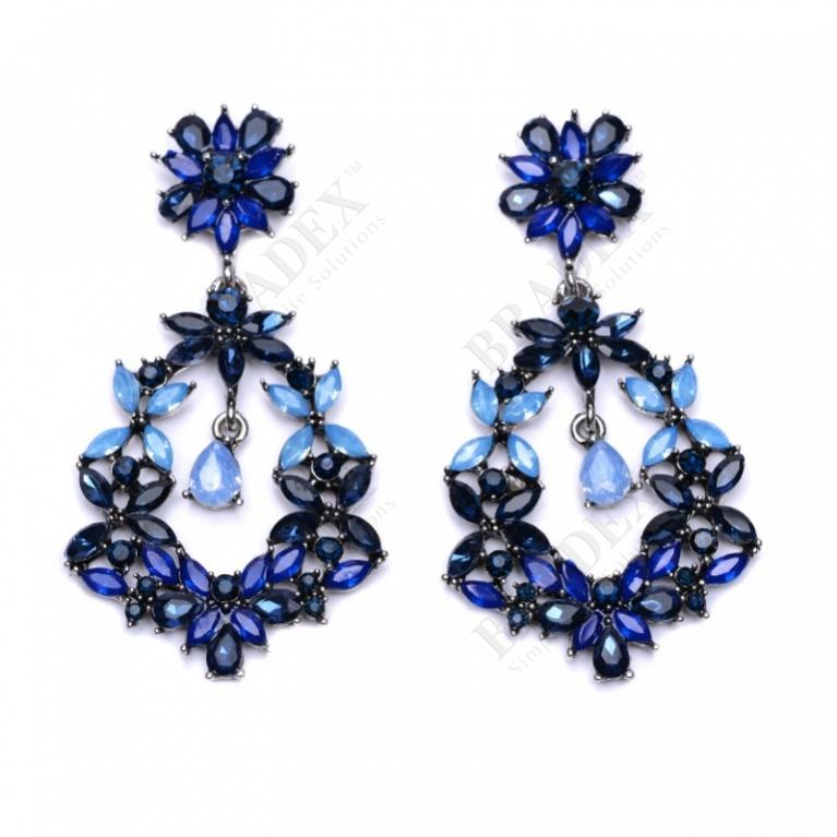 Серьги «бекки» (earrings blue)
