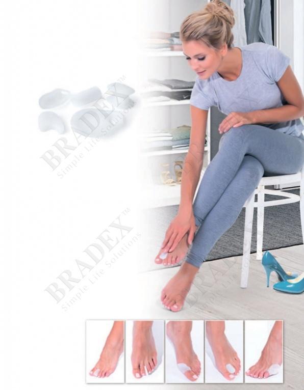 Набор силиконовых протекторов - защита ног от мозолей (silicone protectors for the feet)