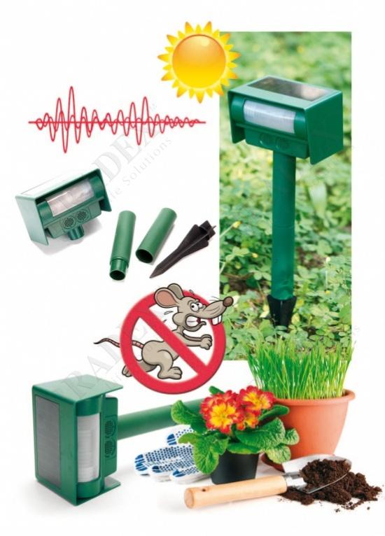 Прибор для отпугивания животных ультразвуковой на солнечной батарее (solar ultrasonic powered animal repeller)