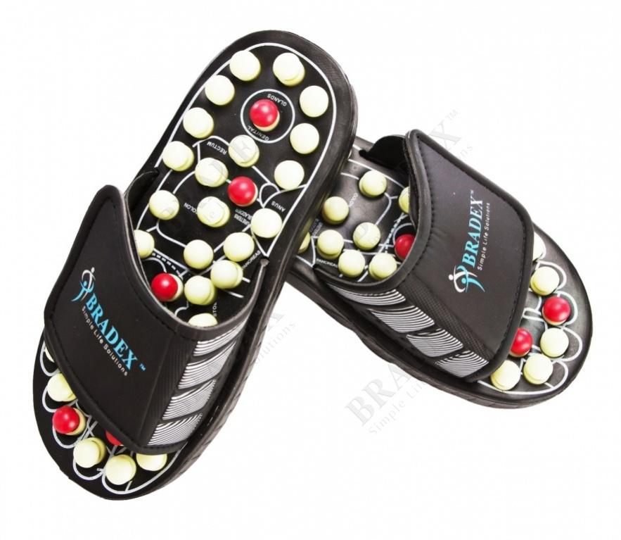 Тапочки рефлекторные, размер: 40-41 «сила йоги» (spring acupuncture massage slippers № 40-41)