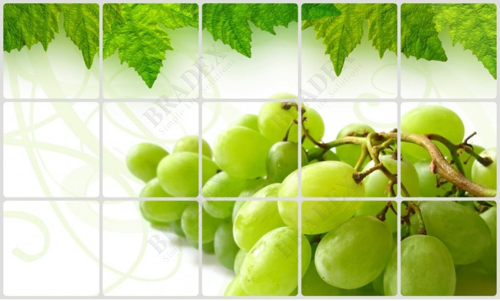 Экран защитный кухонный «виноградная гроздь» (kitchen wall cover 45x75-2)