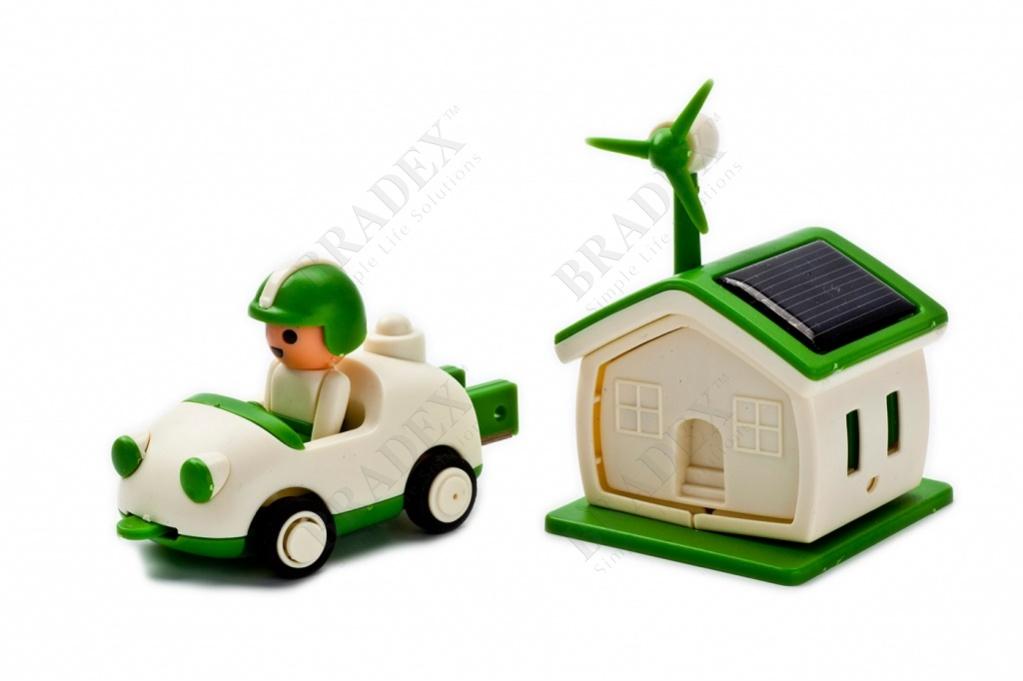 Конструктор на солнечной батарее «автомобилист» (green life solar kit car)