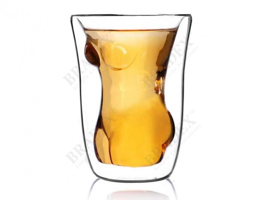 Стакан с двойными стенками «женский стан» (double wall glass cup)