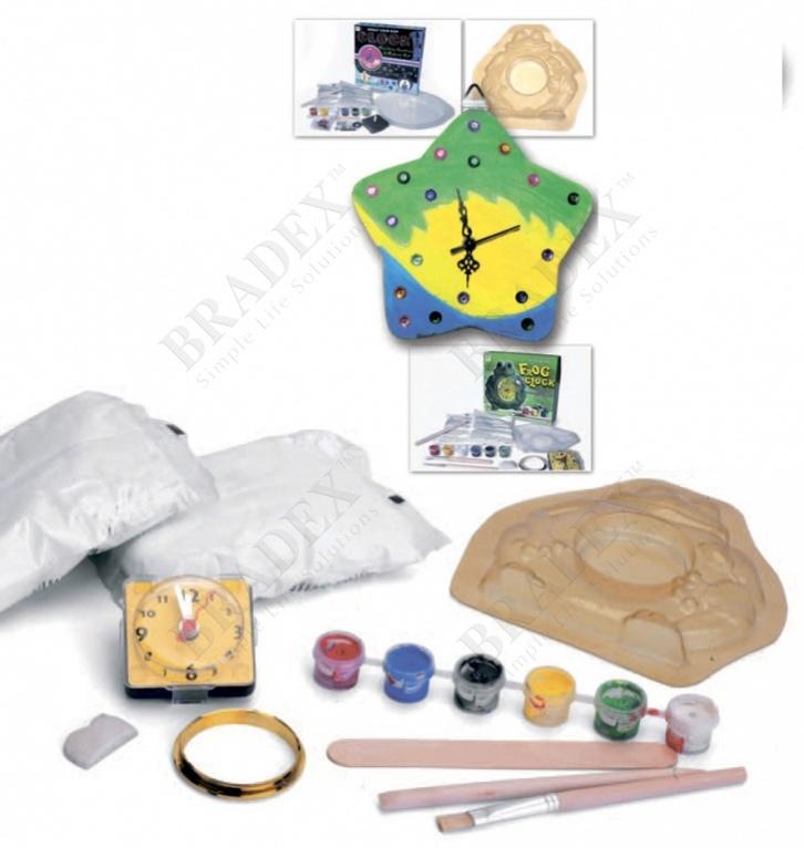 Набор для творчества арт-часы «лягушонок» (diy frog clock making kit)