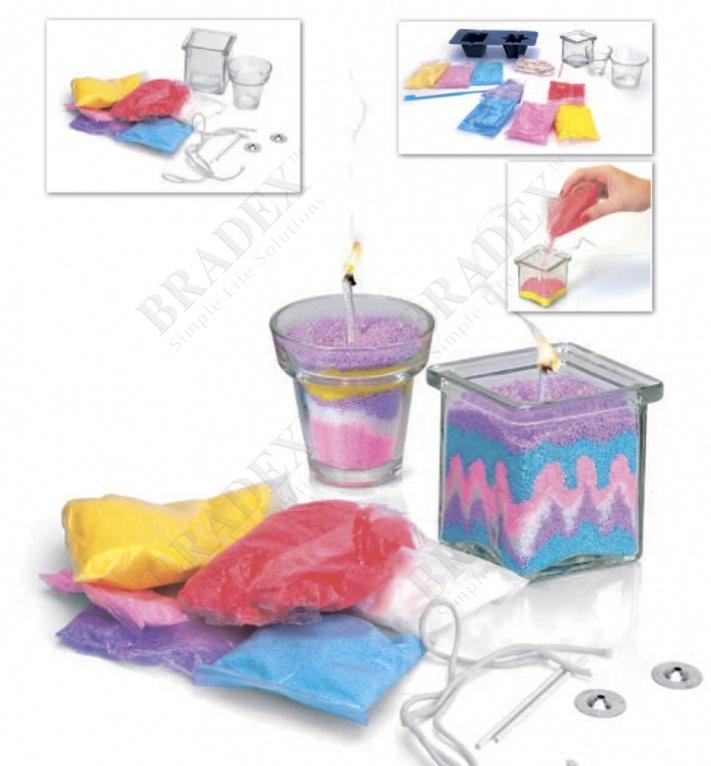 Набор для творчества «свечки своими руками» модель для изготовления 2х видов свечей (art and craft kit candle diy)