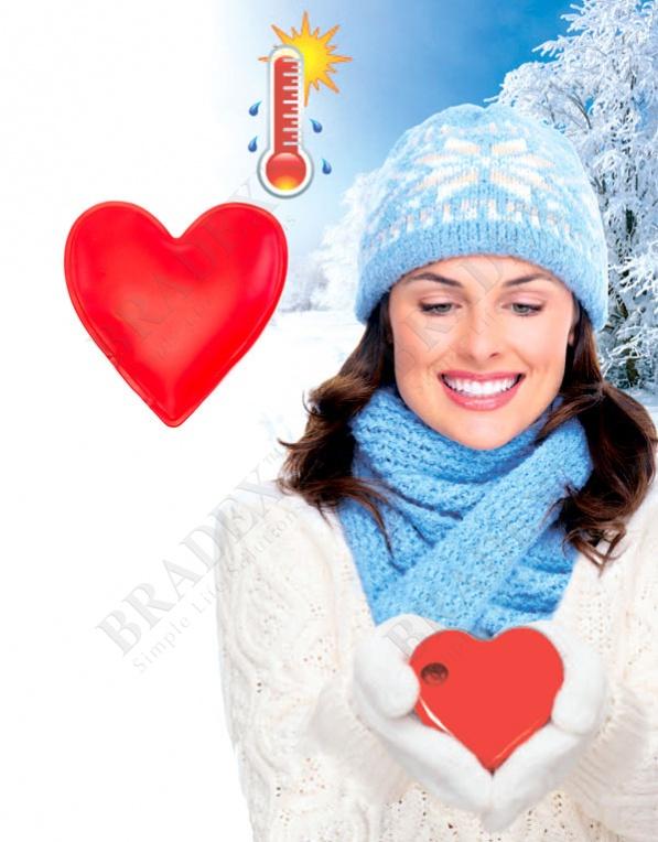 """Грелка солевая саморазогревающаяся «сердечко» (click heat pads """"heart"""")"""