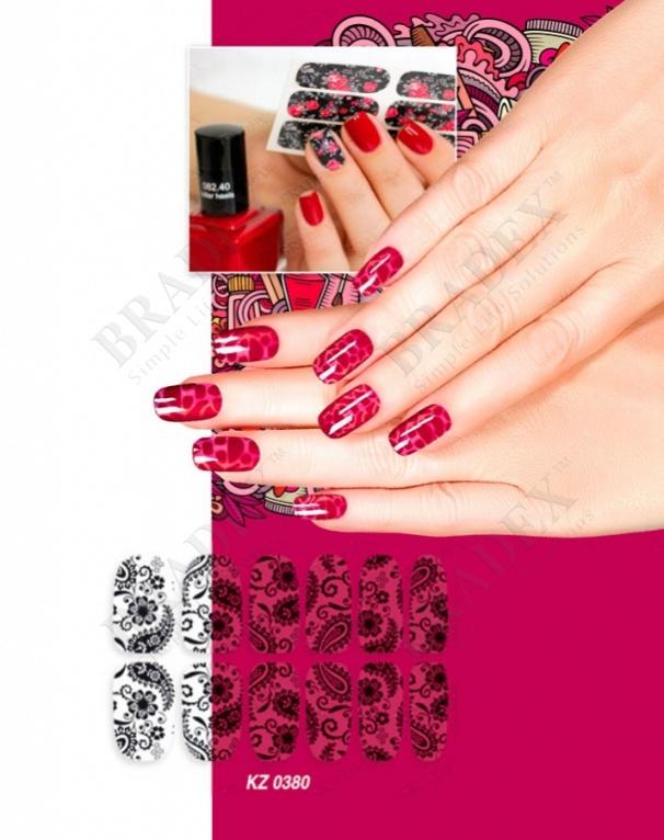 Арт-пленка для дизайна ногтей «кружево» (nail polish wraps zxfs2859)