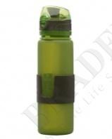 Бутылка силиконовая «compact drink» зелёная