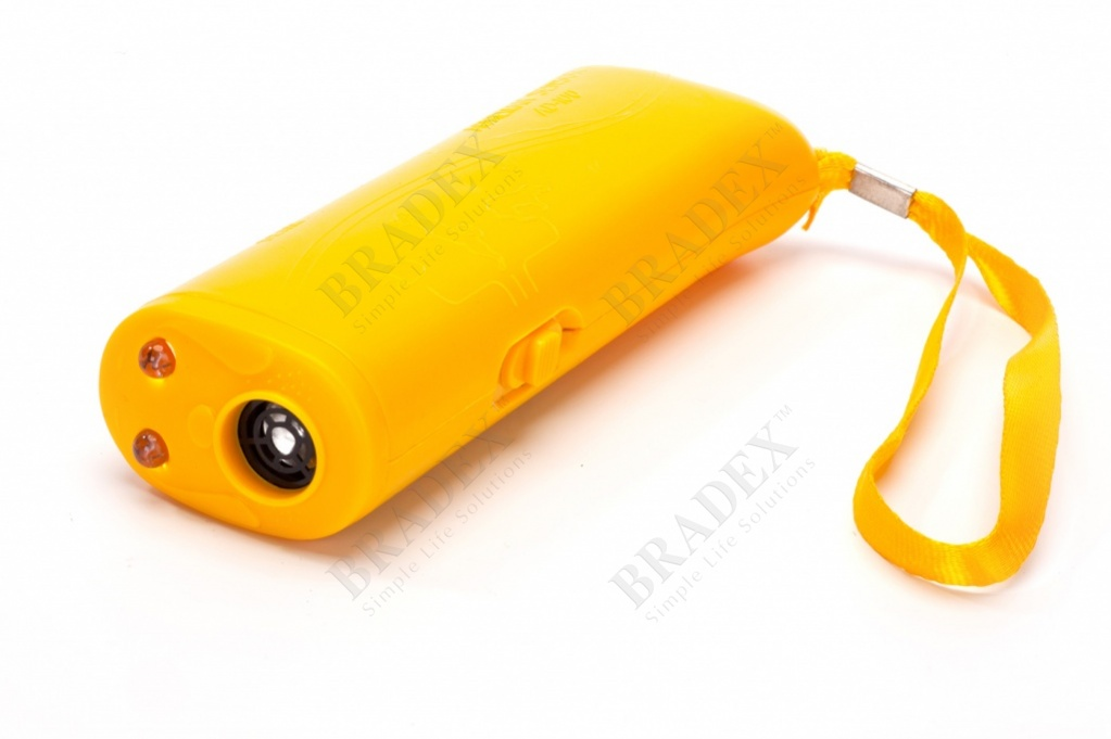 Отпугиватель собак ультразвуковой цвет желтый (dog repeller)