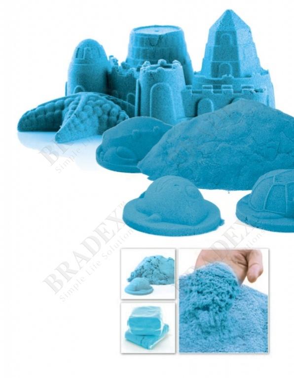 Песок для игры «чудо-песок» 1 кг голубой (cildren christmas toys play sand for kids christmas gift)