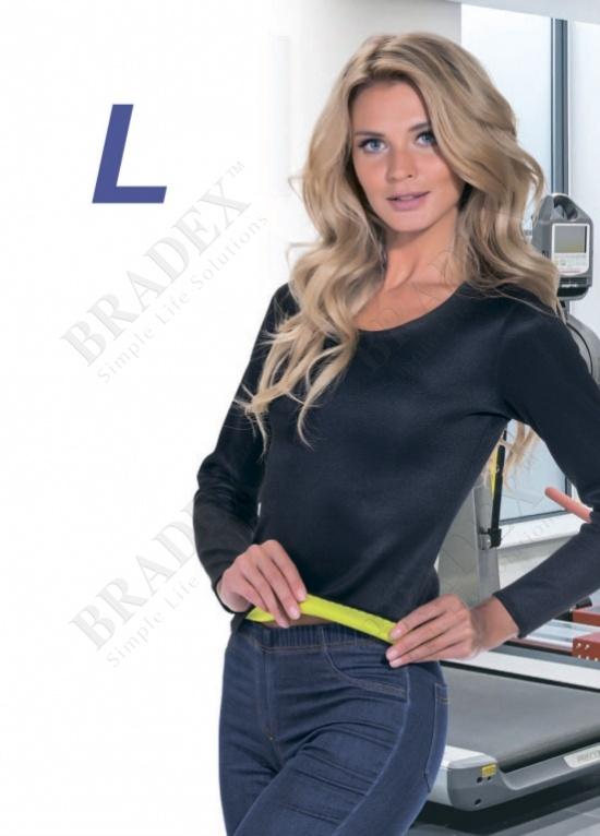 Футболка с длинным рукавом для похудения «хот шейперс», размер l (t-shirt with long sleeves, xl)