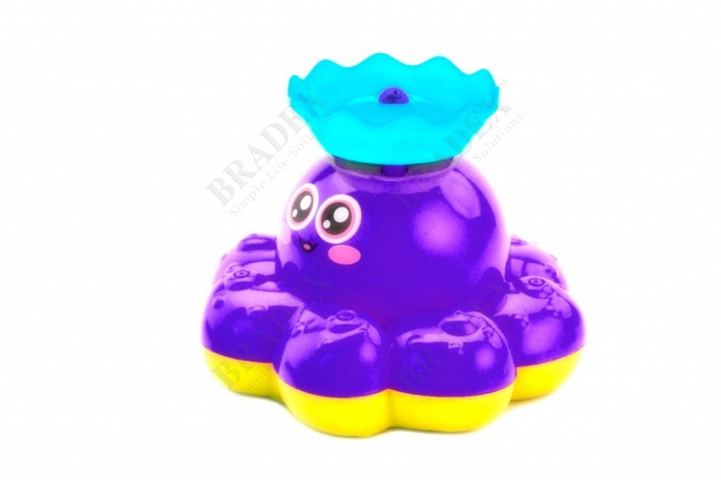 Игрушка детская для ванны «фонтан-осьминожка» фиолетовый (electric water spray small octopus)