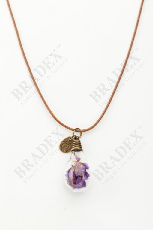 Кулон «лампочка» лиловый xl157 купить оптом