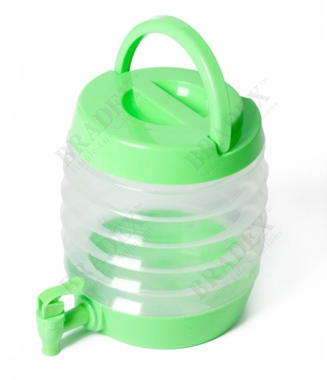 Емкость для напитков с дозатором складная «бочонок» (collapsible beverage dispenser)