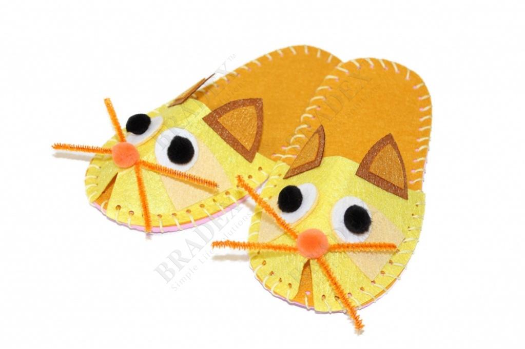 Набор для творчества «шьем тапочки» модель котик (art and craft kit slippers diy - cat)