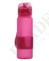 Бутылка силиконовая «compact drink» розовая