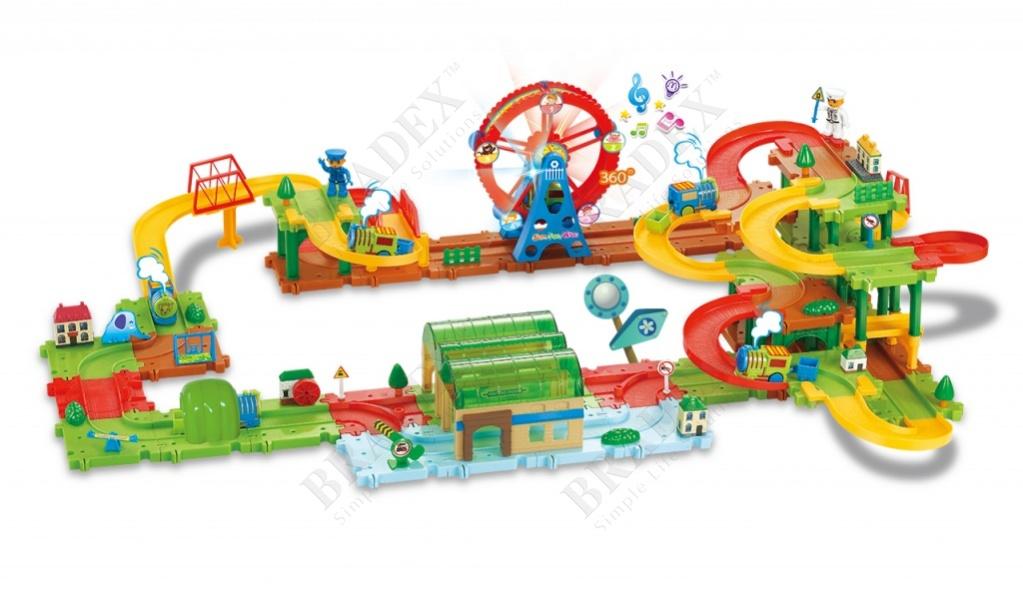 Конструктор «рейл трейн» (130 деталей) (railway bricks)