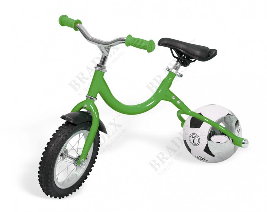 Беговел с колесом в виде мяча «велоболл» зелёный bike on ball купить оптом