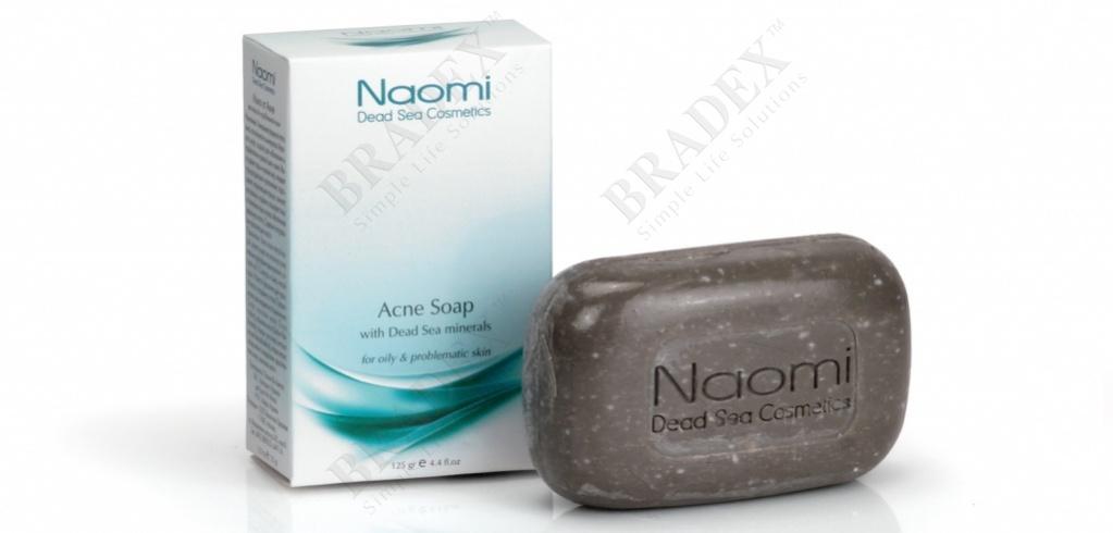 Мыло против акне с минералами мертвого моря «naomi» 125 г (acne soap)