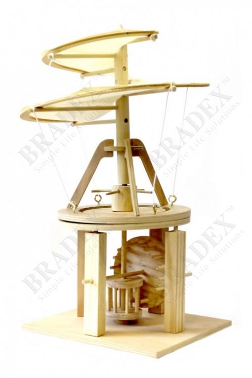 Конструктор из дерева «воздушный винт» леонардо да винчи (da vinci helicopter item # d-027)