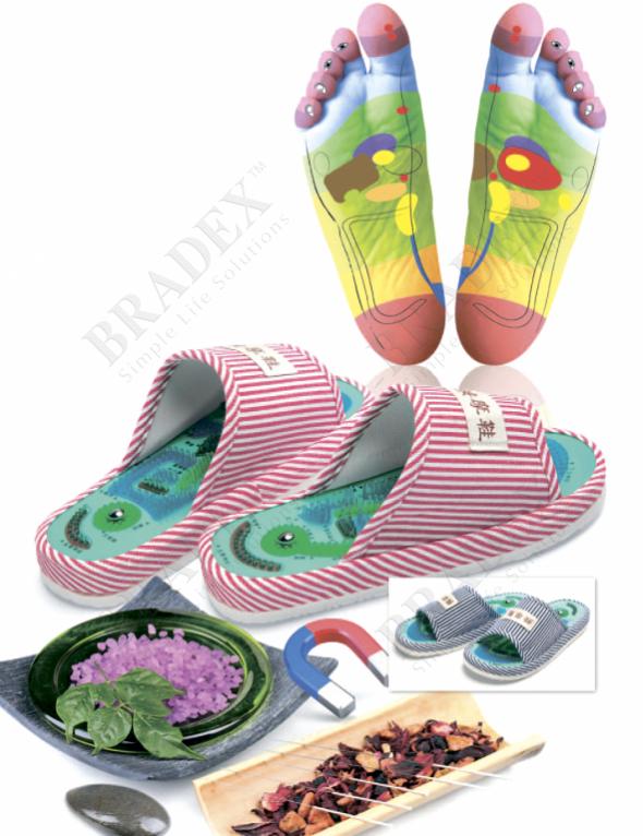 Тапочки массажные «шиацу» мужские (massager slipper 28cm)