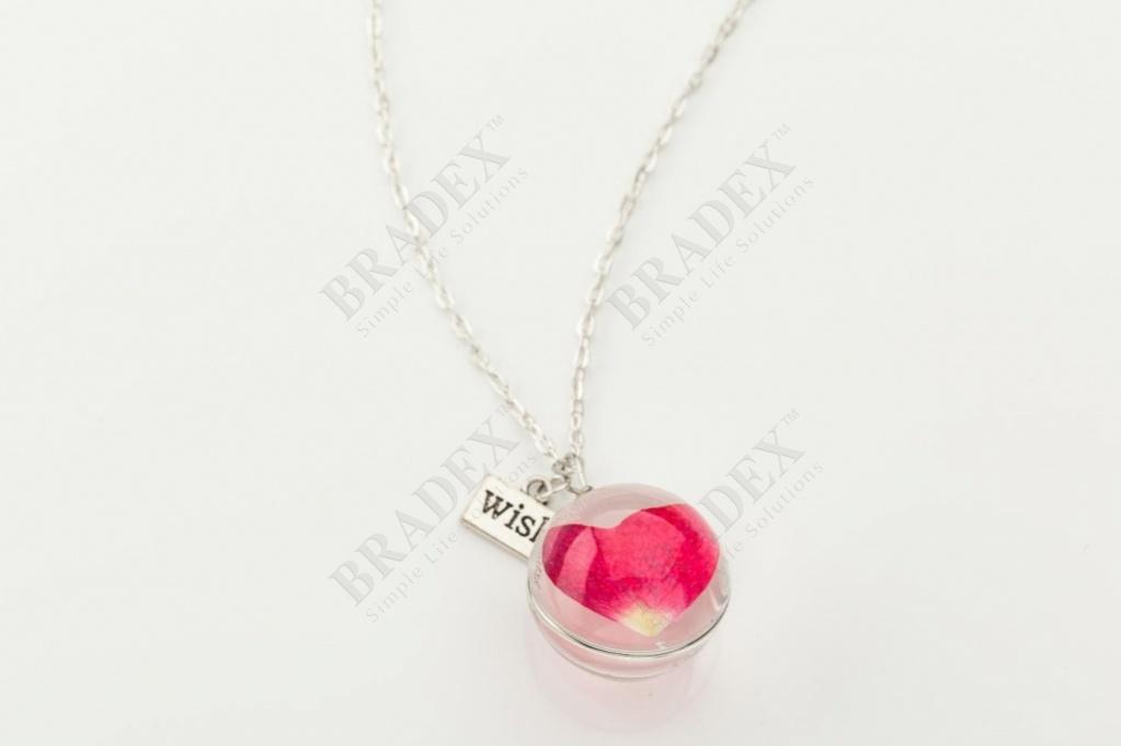 Кулон «хрустальное сердце» wf-041531-1 купить оптом