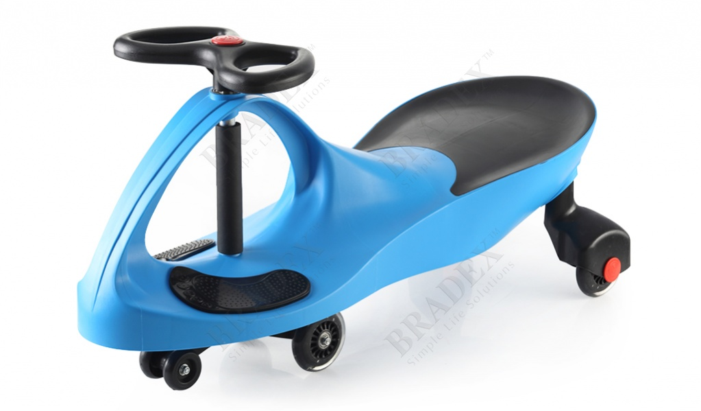 Машинка детская с полиуретановыми колесами синяя «бибикар» (bibicar, blue colour, pu wheels)