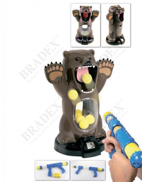 Игра с мишенью и компрессионным пистолетом «медведь» (toddler toy with sound)