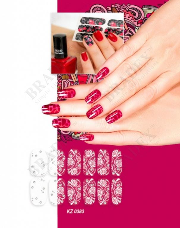 Арт-пленка для дизайна ногтей «изморозь» (nail polish wraps zx2489)