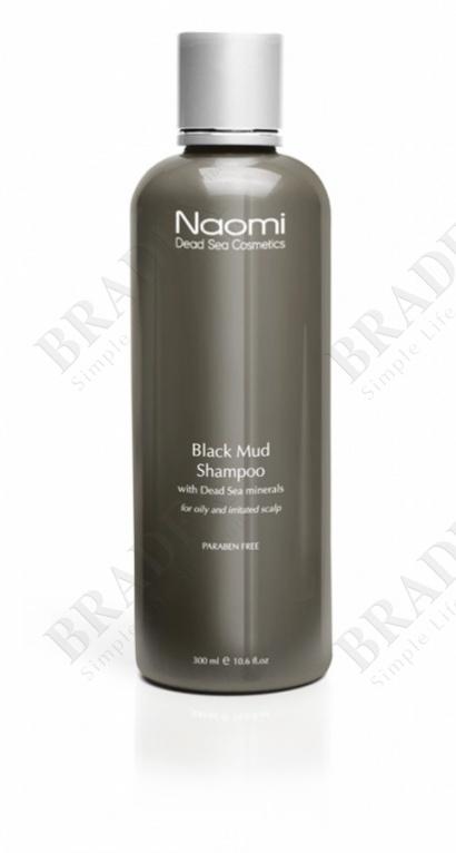 Шампунь с черной минеральной грязью и минералами мертвого моря «naomi», 300 мл. (black mud shampoo)