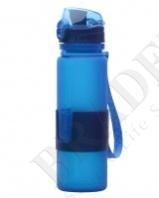 Бутылка силиконовая «compact drink» голубая