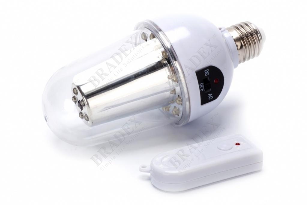 Лампа с аккумулятором и пультом управления (remote controlled lamp)
