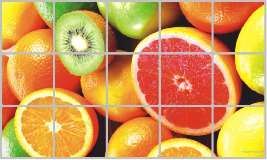 Экран защитный кухонный «фрукты» (kitchen wall cover 45x75-27)