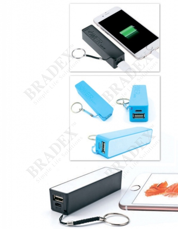 Аккумулятор портативный «брелок», голубой (portable charger, blue)