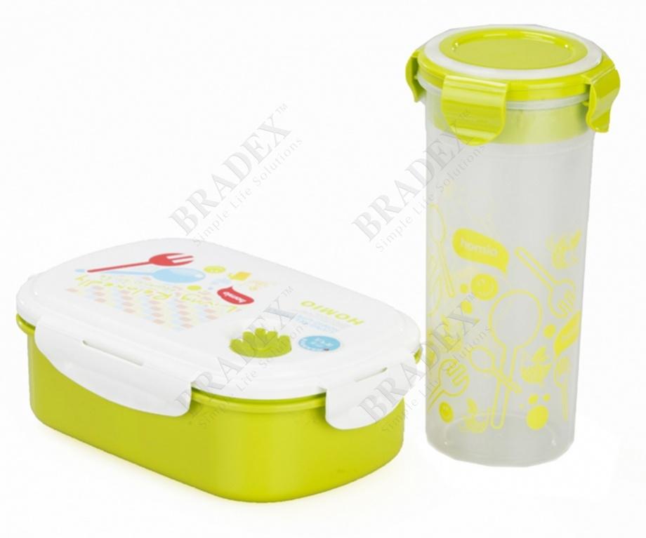 Набор детский (ланч-бокс+бутылка) «bento kids» (lunch box+ bottle kids set)