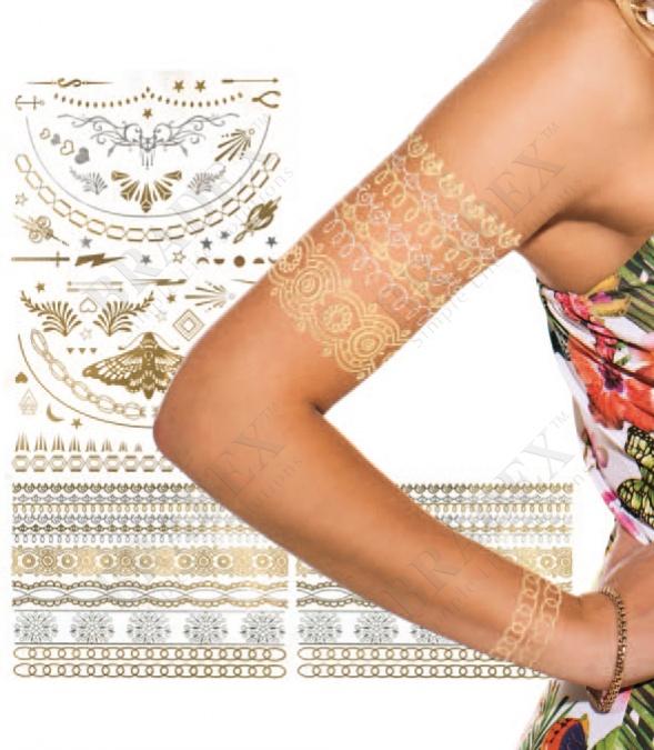 Тату переводное «блеск» (shimmer jewelry tattoos)