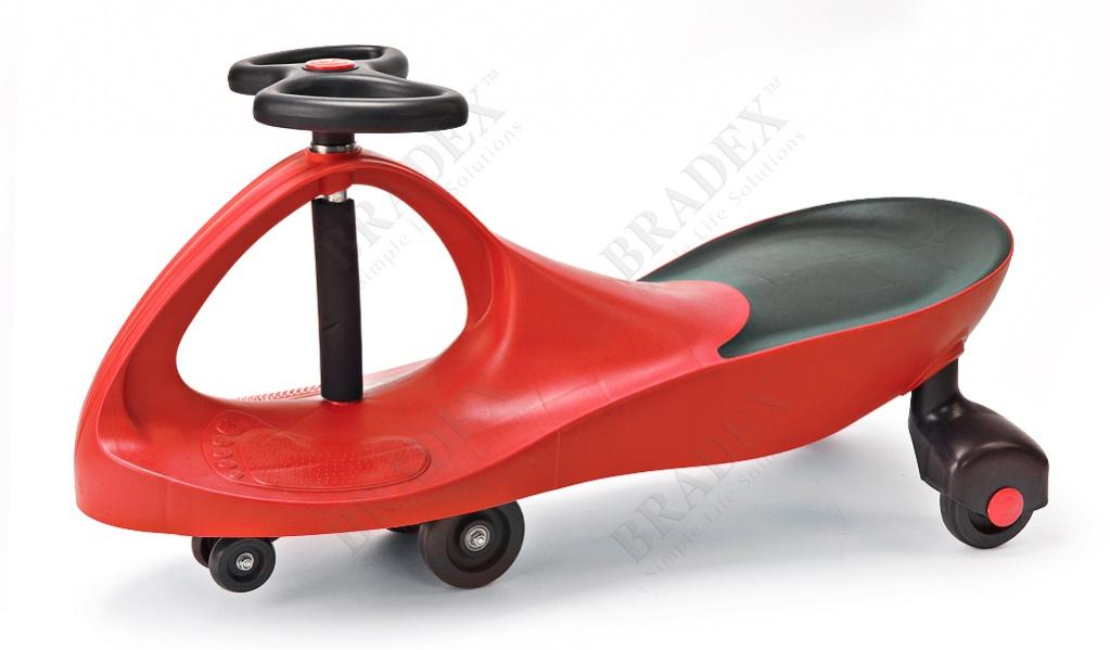 Машинка детская, красная «бибикар» (bibicar, red colour, pvc wheels)