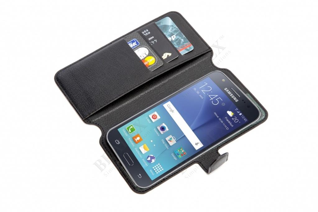 Чехол-книжка универсальный для телефона, черный 15,7*8 см (flip-open cover phone case, black, 15,7*8 cm)