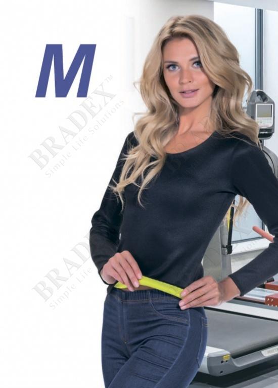 Футболка с длинным рукавом для похудения «хот шейперс», размер m (t-shirt with long sleeves, l)