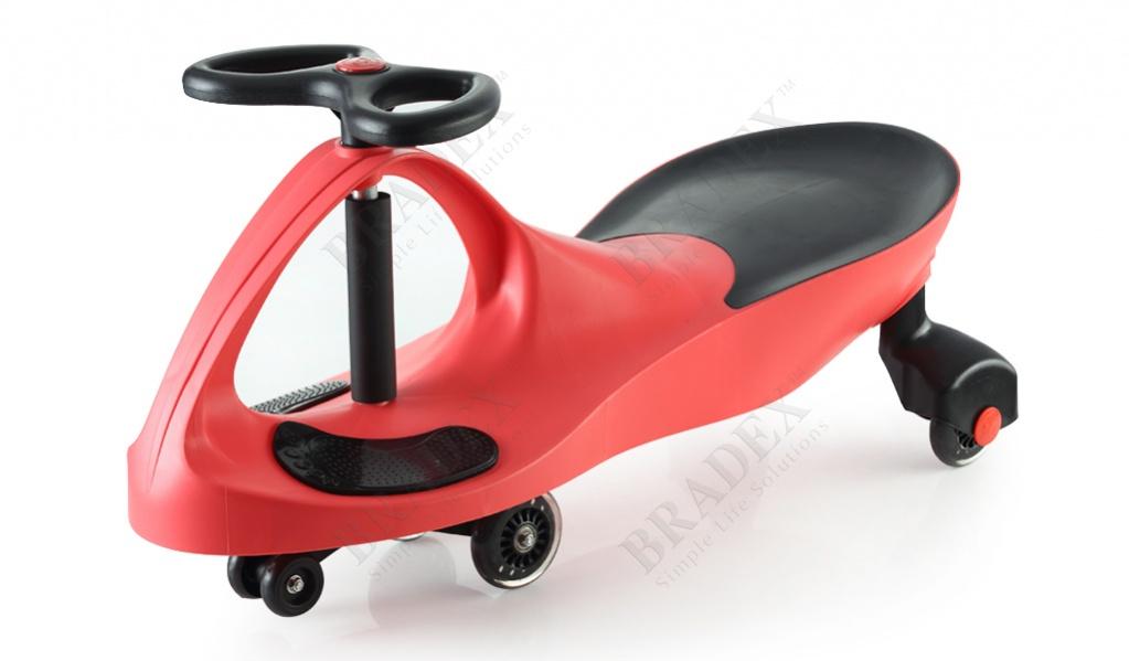 Машинка детская с полиуретановыми колесами красная «бибикар» (bibicar, red colour, pu wheels)