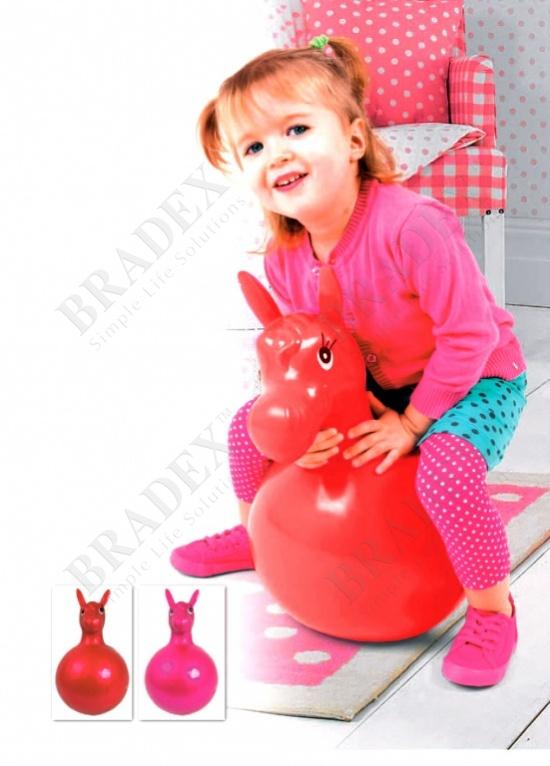 Игрушка детская «лошадка-попрыгун» красный (hopper toy horse red)